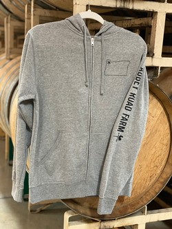Abbey Road Farm Grey Zip Hoodie